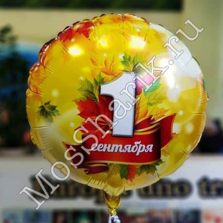 """Фольгированный шарик: 1 сентября (круг 18"""")"""