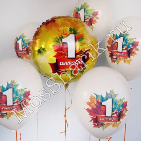 Воздушные шарики: 1 сентября.