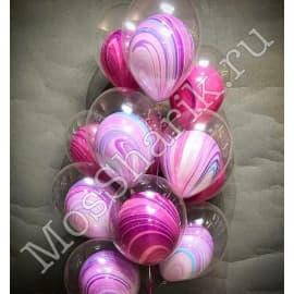Воздушные шарики: Агаты. Шар в шаре. Fashion (фэшн)
