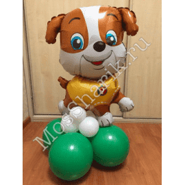 """Воздушный шарик: """"Крепыш"""" на стойке (Щенячий патруль)"""