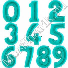 Воздушный шарик: цифра от 0 до 9 (тиффани)