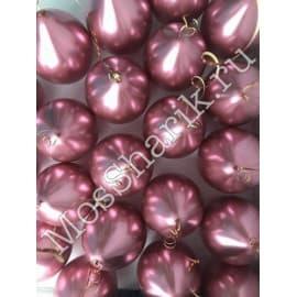 Воздушные шарики ХРОМ (розовые)