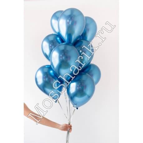 Воздушные шарики: ХРОМ (синие)