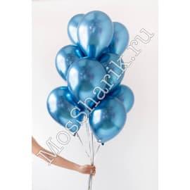Воздушные шарики ХРОМ (синие)