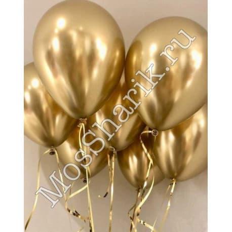 Воздушные шарики: ХРОМ (золотые)