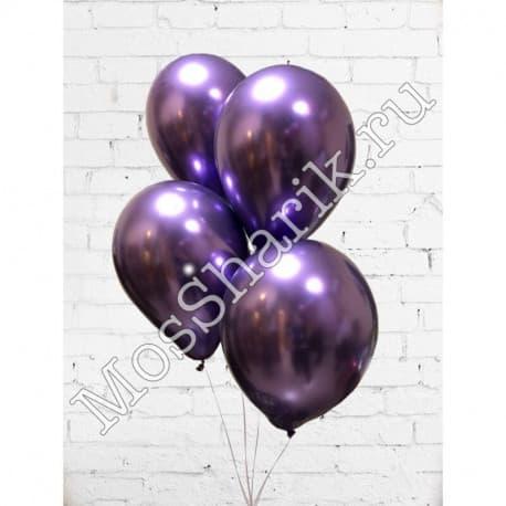 Воздушные шарики: ХРОМ (фиолетовые)