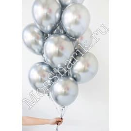 Воздушные шарики ХРОМ (серебряные)