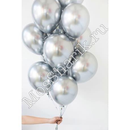 Воздушные шарики: ХРОМ (серебрянные)