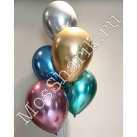 Воздушные шарики ХРОМ (все цвета)