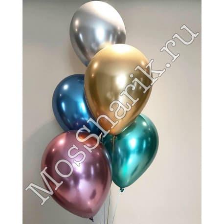 Воздушные шарики: ХРОМ (все цвета)