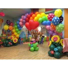 Оформление школы шарами