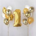 Оформление шарами на годик
