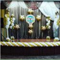 Оформление сцены шарами